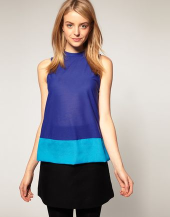 ASOS Collection Asos Swing Top with Colour Block - Lyst