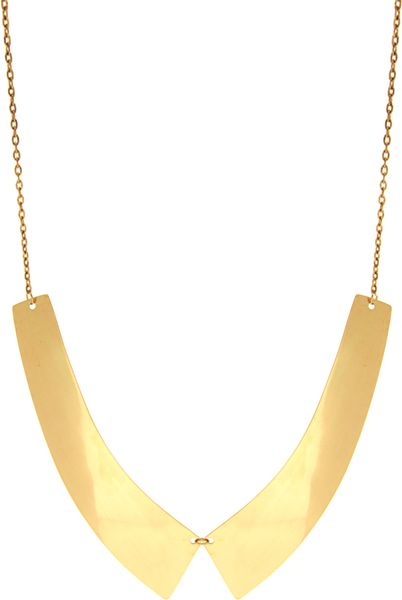 Asos Collection Asos Metal Collar Necklace in Gold - Lyst