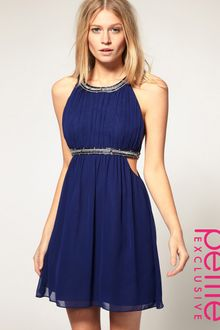 ASOS Collection Asos Petite Exclusive Strappy Dress in Chiffon - Lyst