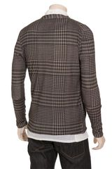 Christopher Kane Houndstooth Pattern Silkcashmere Knit Cardigan in Gray for Men (dark) - Lyst