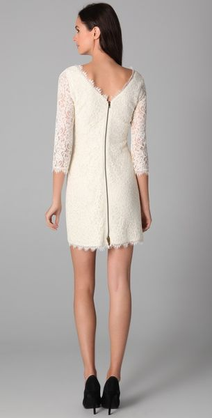Navy Dvf Zarita Dress Zarita Lace Dress in White