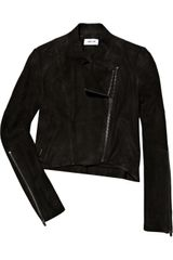 Helmut Lang Destroy Asymmetric Cropped Leather Jacket - Lyst