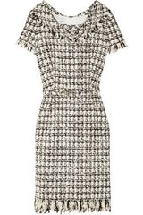 Oscar de la Renta Bouclé Tweed Dress - Lyst