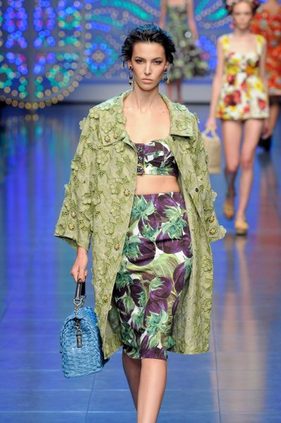 Dolce & Gabbana Spring 2012 Vegetable Print Bra Top in Purple - Lyst