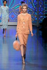 Dolce & Gabbana Spring 2012 Fur Handbag in Orange - Lyst
