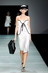 Emporio Armani Spring 2012 Black And White Heel Sandals in Black - Lyst