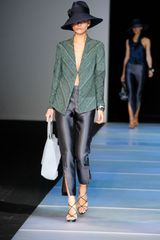 Giorgio Armani Spring 2012 Green High Heel Platform Strappy Sandals in Green - Lyst