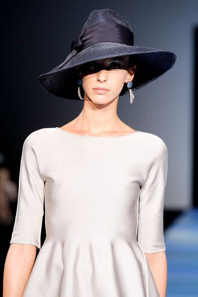 Giorgio Armani Spring 2012 Black Oversized Hat in Black - Lyst