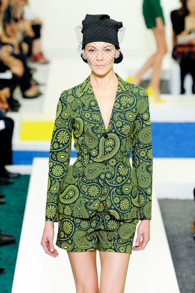 Jil Sander Spring 2012 Green Paisley Print Tailored Jacket in Floral (black, green) - Lyst
