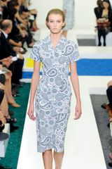 Jil Sander Spring 2012 Paisley Print Tailored Dress With Collar - Lyst