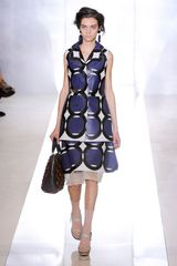 Marni Spring 2012 Multicolor Geometric Print ALine Knee Lenght Skirt With White Organza Underpinning in Multicolor - Lyst