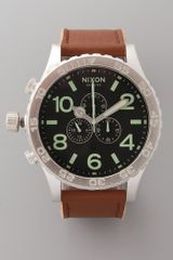 Nixon 51-30 Chrono Leather Watch - Lyst