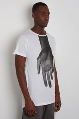 Odeur Mens Hand Print T Shirt in White for Men - Lyst