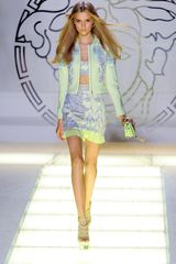 Versace Spring 2012 Pastel Neoprene Printed Jacket in Green (lightblue, purple, yellow) - Lyst