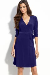 Alex & Ava Jersey Wrap Dress - Lyst