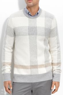 Burberry Brit Check Print Sweater - Lyst