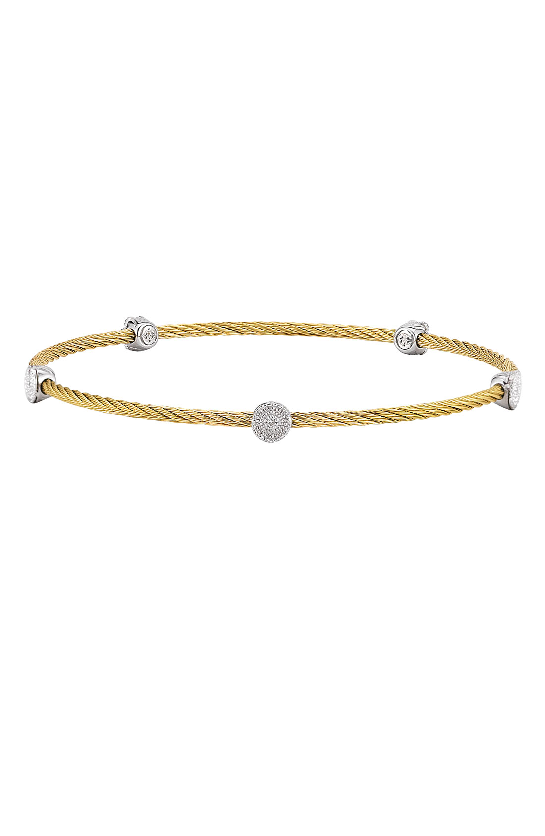 Charriol Round Diamond-station Cable Bracelet in Gold ...