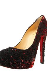 Christian Louboutin Sequined Platform Pump - Lyst