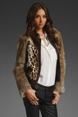 Elizabeth And James Terrence Leopard Jacket - Lyst