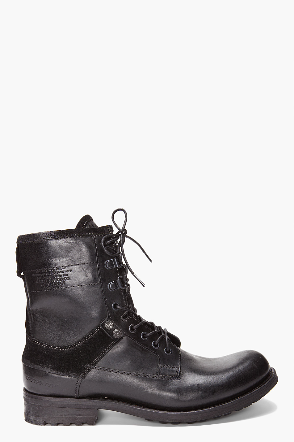 g star raw patton maker boots in black for men lyst. Black Bedroom Furniture Sets. Home Design Ideas