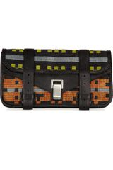 Proenza Schouler Ps1 Leather and Navajo Jacquard Clutch - Lyst