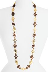 Tory Burch Clover Link Necklace - Lyst