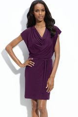 Alex & Ava Jersey Sheath Dress - Lyst