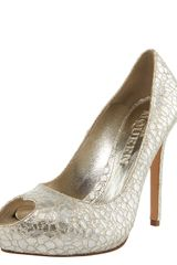 Alexander McQueen Metallic Crackled-leather Pump - Lyst