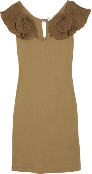 Chloé Swirl-embellished Cotton Dress - Lyst