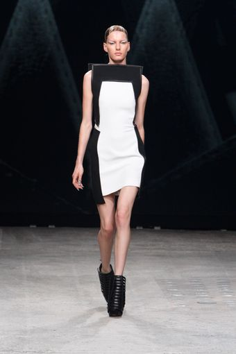 Gareth Pugh Spring 2012 Structured Cut-Out Ankle Boots In Black - Lyst