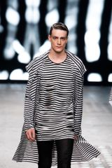 Gareth Pugh Spring 2012 Striped Top