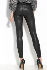 J Brand Lambskin Leather Pants in Black - Lyst