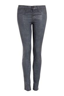 J Brand Grey Coated Skinny - Lyst