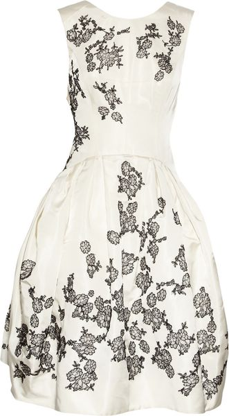 Jason Wu Lace-appliquéd Silk-radzmir Dress - Lyst