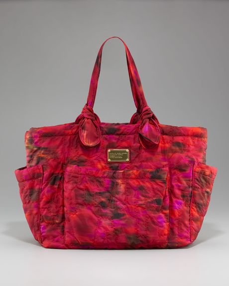 Marc By Marc Jacobs Eliza Quilted Baby Bag In Red Pink