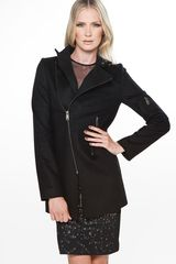 McQ by Alexander McQueen Mcq By Alexander Mcqueen Long Zipper Jacket in Black - Lyst