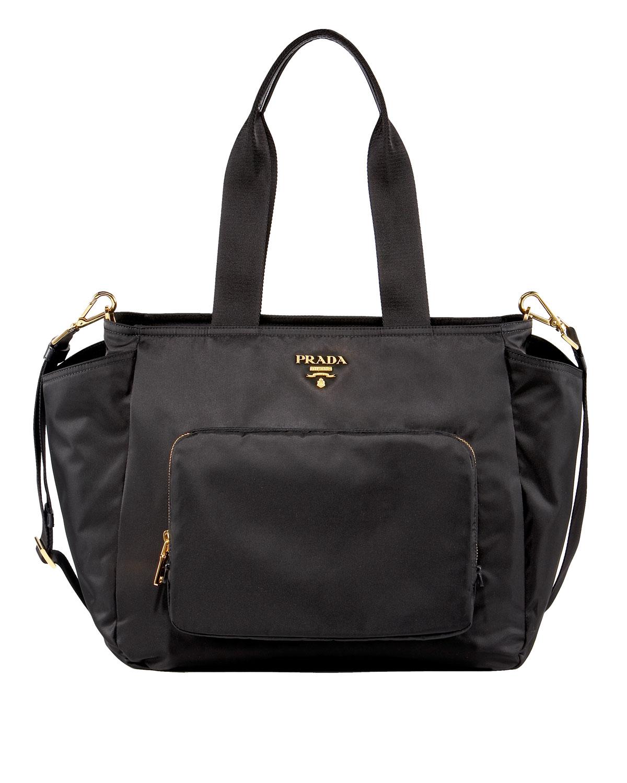 Designer Diaper Bags : Prada nylon baby bag in black lyst