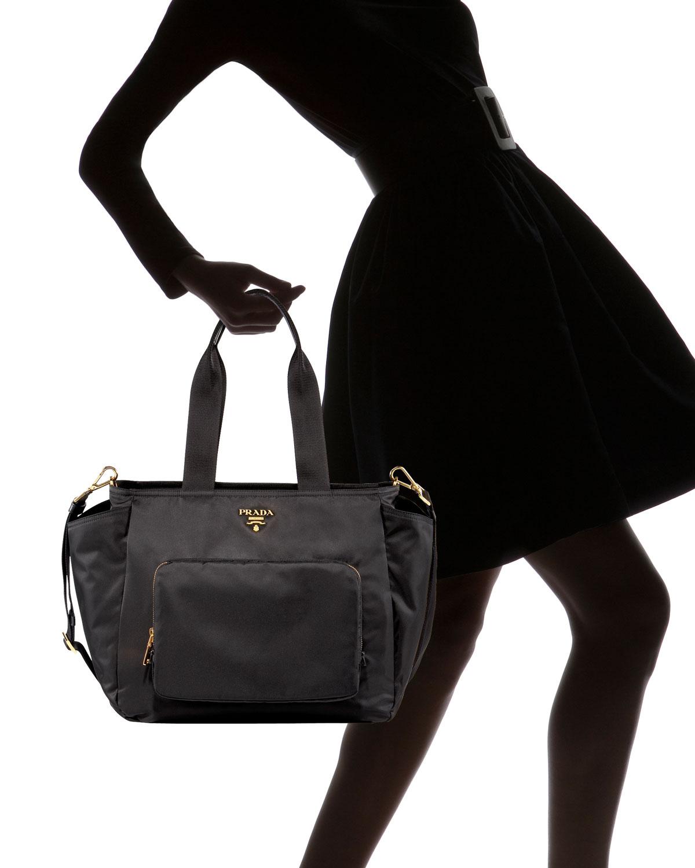 0b016547041f ... coupon code for lyst prada nylon baby bag in black 67f26 10980