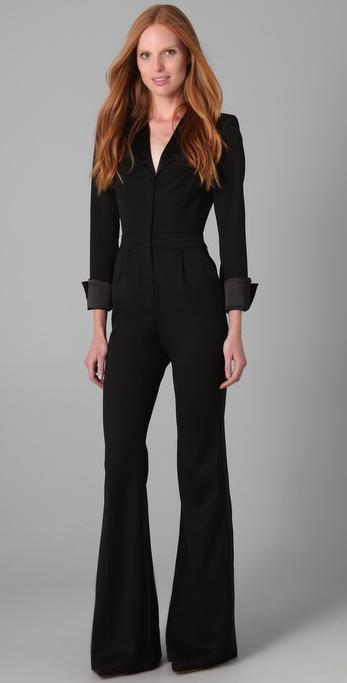 Rachel Zoe Jerry Tuxedo Jumpsuit In Black Lyst