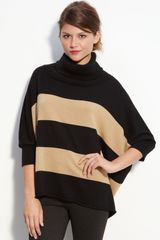 Vince Camuto Stripe Cowl Neck Sweater - Lyst