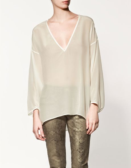 Zara Silk Blouse 21