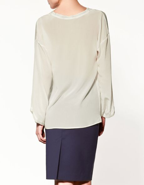 Zara Silk Blouse 107