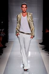 Balmain Spring 2012 Wide Side Pocket Pants In White