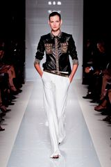 Balmain Spring 2012 Bright White Wide Leg Pants in White - Lyst