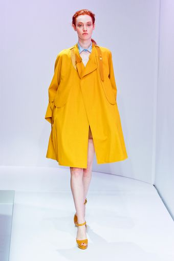 Carven Spring 2012 Yellow High Heel Platform Sandals - Lyst