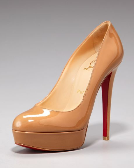 Christian Louboutin Double Platform Pump in Beige - Lyst