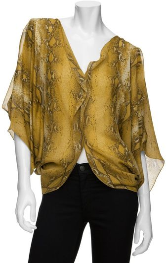 Exclusive For Intermix Exclusive Python Dolman Top - Lyst