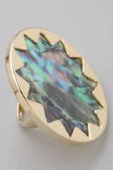 House Of Harlow Abalone Sunburst Cocktail Ring - Lyst