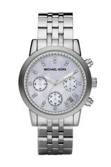 Michael Kors Silver Bracelet Watch with Glitz - Lyst
