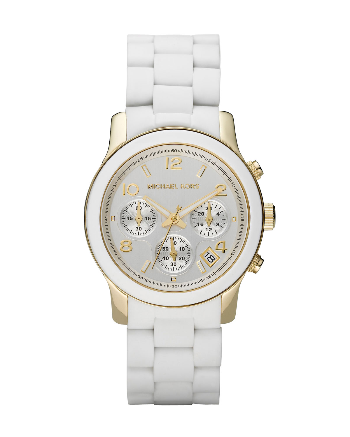Lyst Michael Kors White Midsized Chronograph Watch In